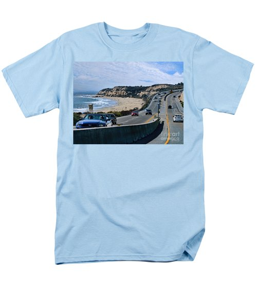 Oc On Pch In Ca Men's T-Shirt  (Regular Fit) by Jennie Breeze