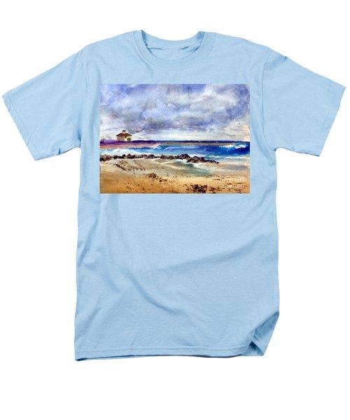 Ocean  Inlet Beach In Boynton Beach Men's T-Shirt  (Regular Fit) by Donna Walsh