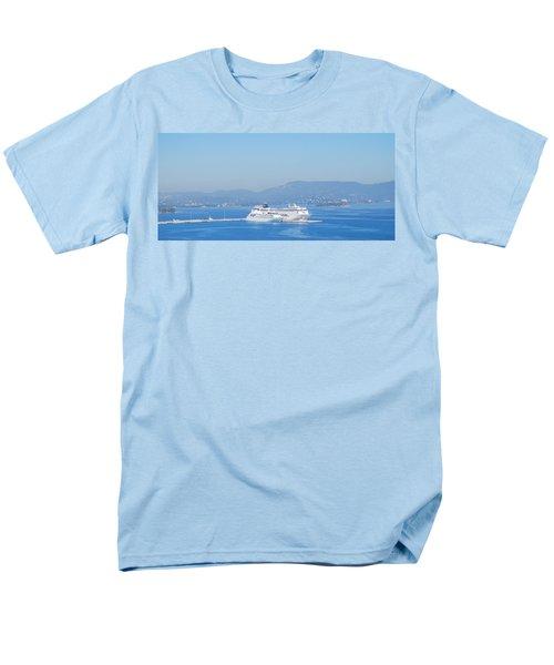 Ocean Liners In Corfu Men's T-Shirt  (Regular Fit) by George Katechis