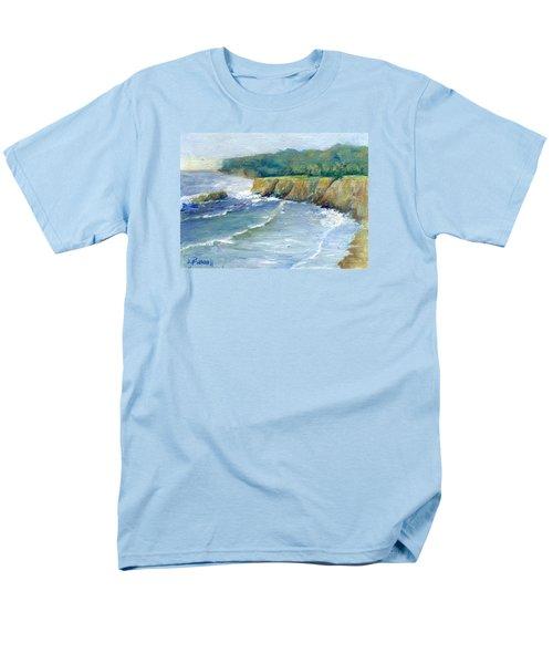 Ocean Surf Colorful Original Seascape Painting Men's T-Shirt  (Regular Fit) by Elizabeth Sawyer