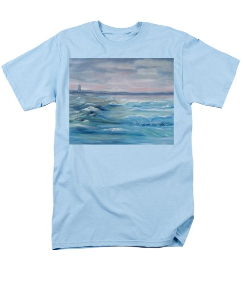 Men's T-Shirt  (Regular Fit) featuring the painting Oceans Of Color by Diane Pape