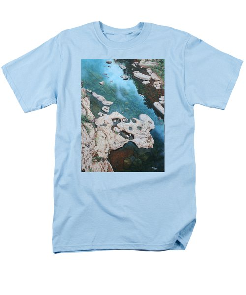 Ocoee River Low Tide Men's T-Shirt  (Regular Fit) by Mike Ivey