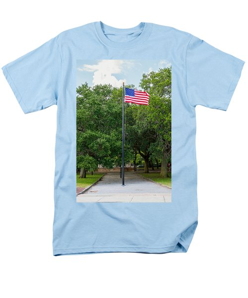 Men's T-Shirt  (Regular Fit) featuring the photograph Old Glory High And Proud by Sennie Pierson