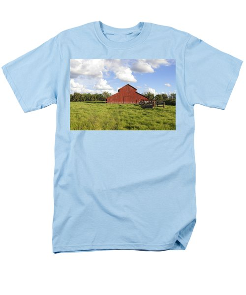 Men's T-Shirt  (Regular Fit) featuring the photograph Old Red Barn by Mark Greenberg