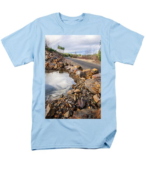 On Frozen Pond Collection 6 Men's T-Shirt  (Regular Fit) by Roxy Hurtubise