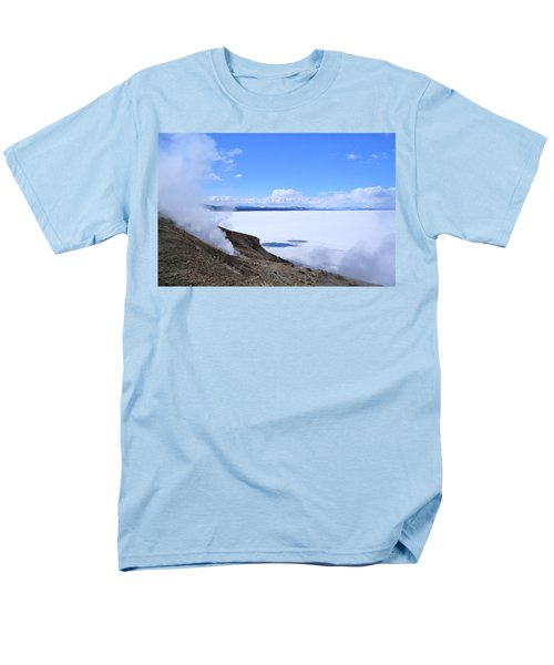 On The Edge Of Lake Yellowstone Men's T-Shirt  (Regular Fit) by Michele Myers