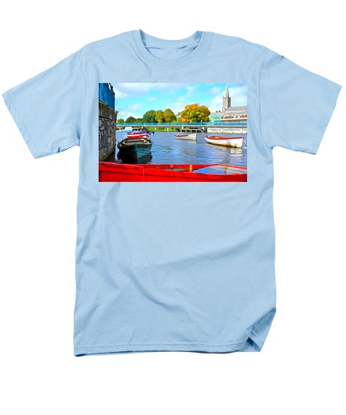 Men's T-Shirt  (Regular Fit) featuring the photograph On The Garavogue by Charlie and Norma Brock