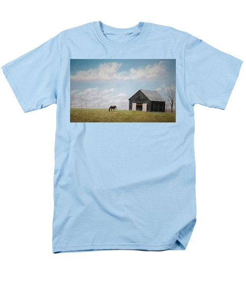 Men's T-Shirt  (Regular Fit) featuring the pastel Out For Breakfast by Stacy C Bottoms