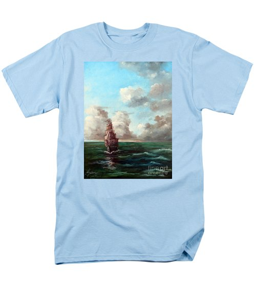 Men's T-Shirt  (Regular Fit) featuring the painting Outrunning The Storm by Lee Piper