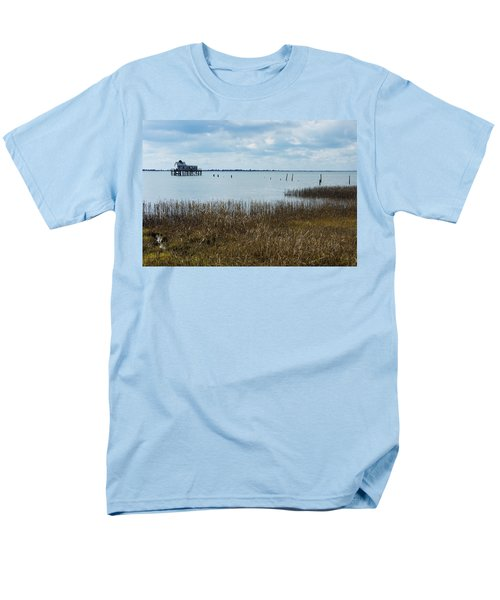 Oyster Shack And Tall Grass Men's T-Shirt  (Regular Fit) by Photographic Arts And Design Studio