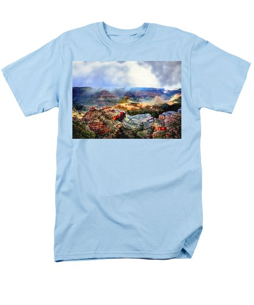 Painting The Grand Canyon Men's T-Shirt  (Regular Fit) by Bob and Nadine Johnston