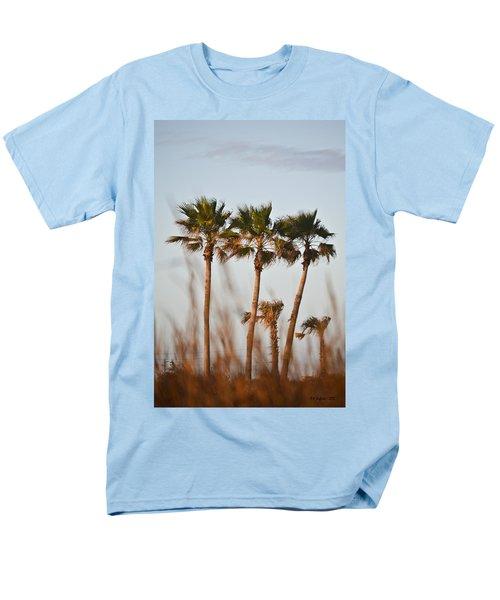 Palm Trees Through Tall Grass Men's T-Shirt  (Regular Fit) by Allen Sheffield