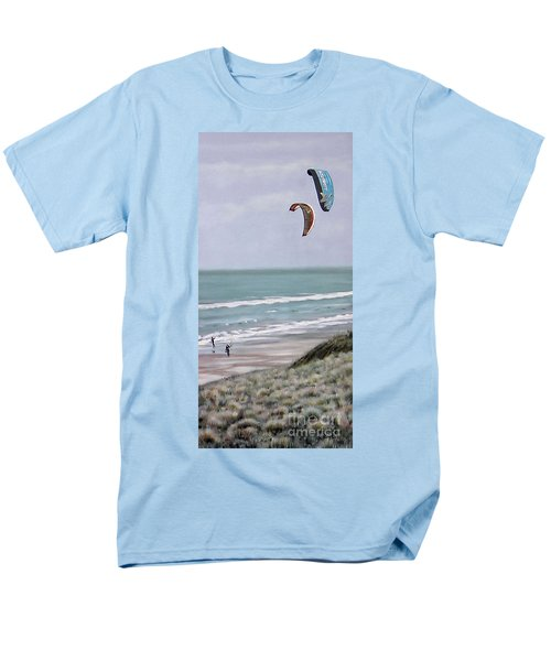 Men's T-Shirt  (Regular Fit) featuring the painting Papamoa Beach 090208 by Sylvia Kula