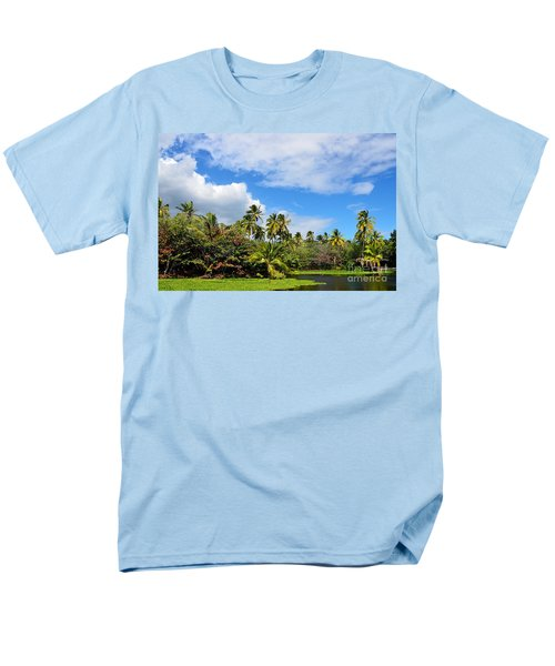 Men's T-Shirt  (Regular Fit) featuring the photograph Paradise Lagoon by David Lawson