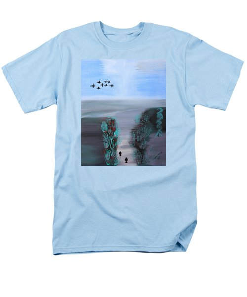 Men's T-Shirt  (Regular Fit) featuring the painting Paradise by Lorna Maza