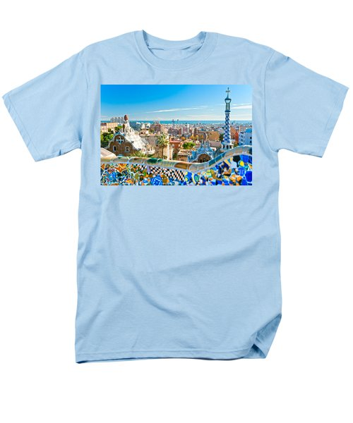 Park Guell - Barcelona Men's T-Shirt  (Regular Fit) by Luciano Mortula