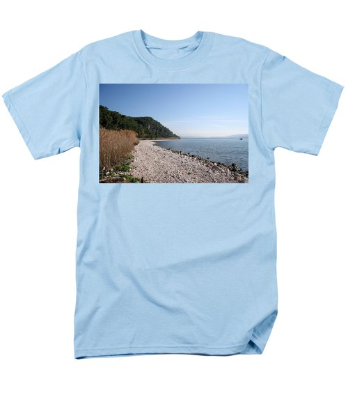 Men's T-Shirt  (Regular Fit) featuring the photograph Pebbled Beach by Tracey Harrington-Simpson