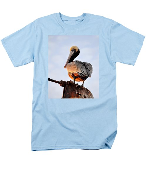 Men's T-Shirt  (Regular Fit) featuring the photograph Pelican Looking Back by AJ  Schibig