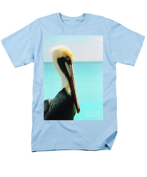 Pelican Profile And Water Men's T-Shirt  (Regular Fit) by Heather Kirk