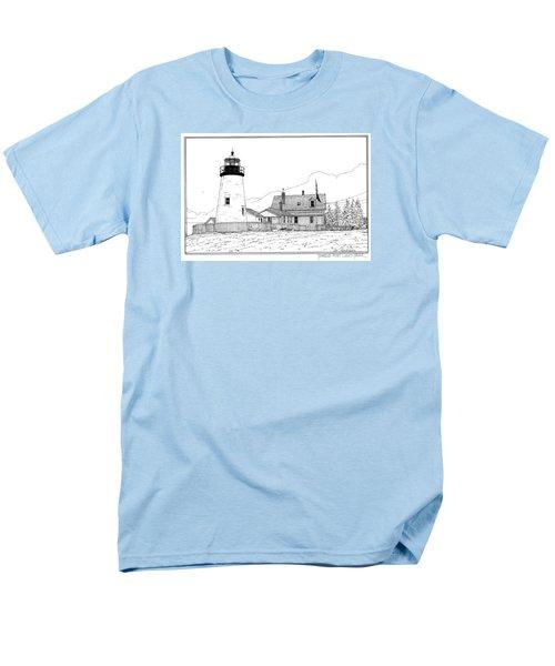 Pemaquid Point Lighthouse Men's T-Shirt  (Regular Fit) by Ira Shander