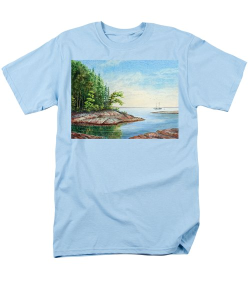 Men's T-Shirt  (Regular Fit) featuring the painting Penobscot Inlet by Roger Rockefeller