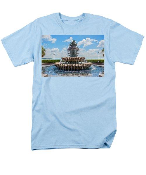 Men's T-Shirt  (Regular Fit) featuring the photograph Pineapple Fountain by Sennie Pierson