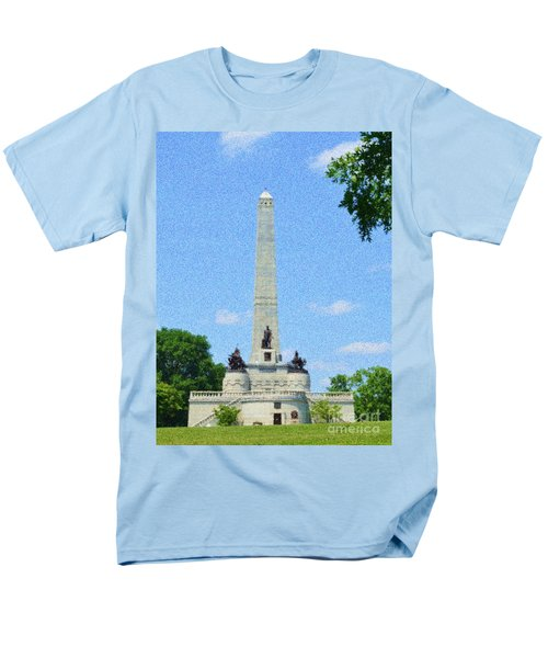 Men's T-Shirt  (Regular Fit) featuring the digital art Pointelisticlincoln's Tomb  by Luther Fine Art