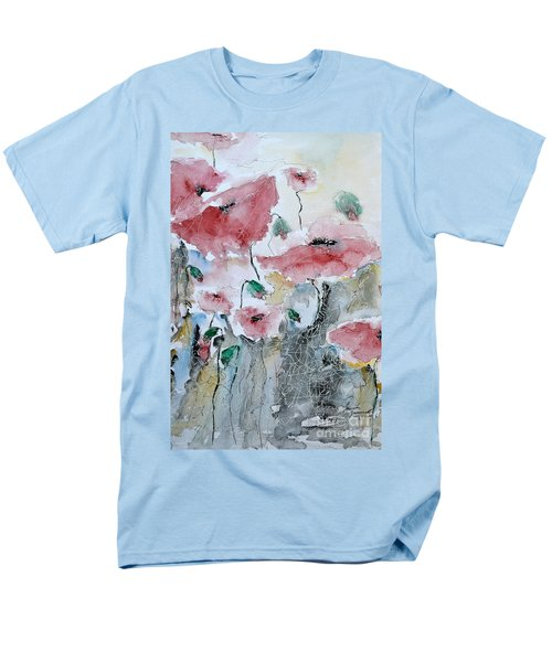 Men's T-Shirt  (Regular Fit) featuring the painting Poppies 01 by Ismeta Gruenwald