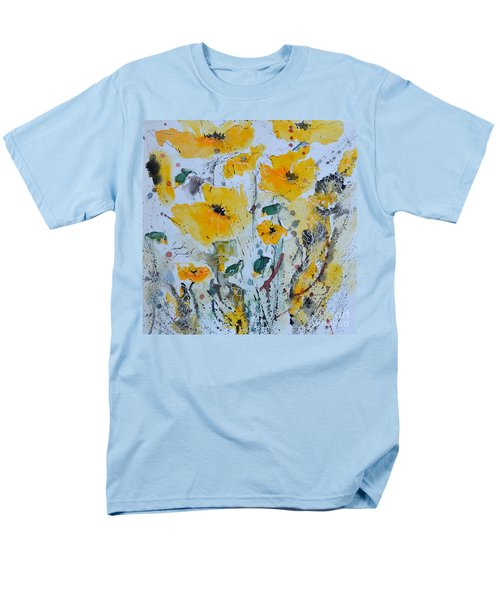 Poppies 03 Men's T-Shirt  (Regular Fit) by Ismeta Gruenwald