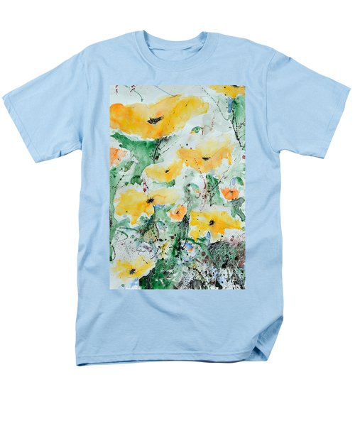 Men's T-Shirt  (Regular Fit) featuring the painting Poppies 07 by Ismeta Gruenwald