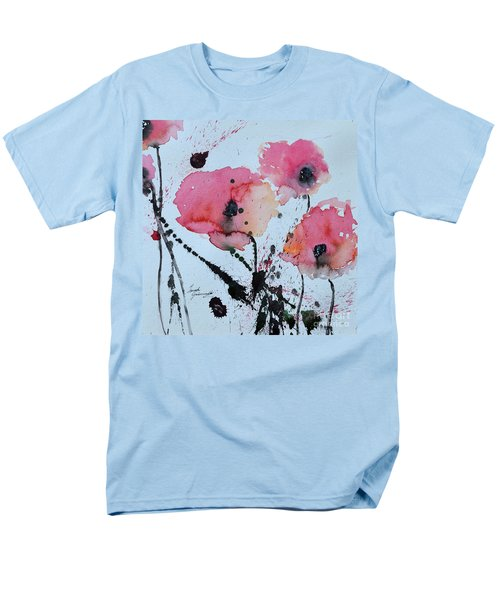 Men's T-Shirt  (Regular Fit) featuring the painting Poppies- Painting by Ismeta Gruenwald