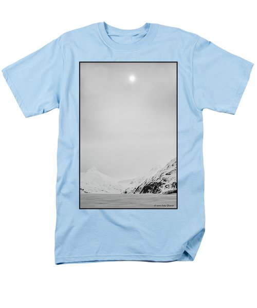 Portage Lake In Fog Men's T-Shirt  (Regular Fit)