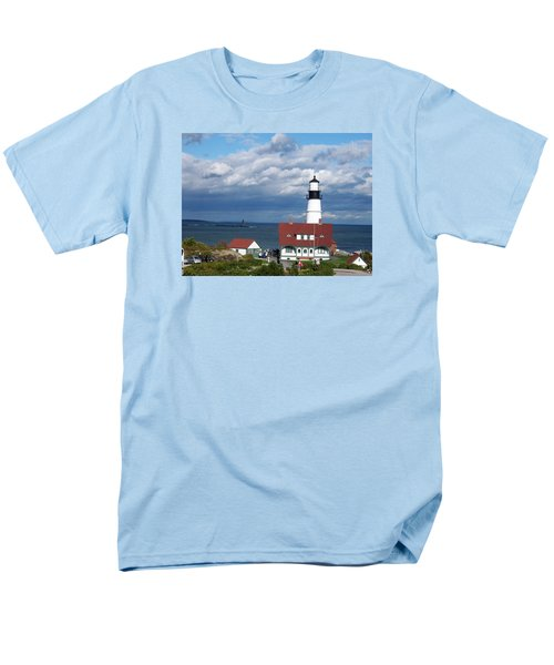 Portland Headlight Men's T-Shirt  (Regular Fit) by Catherine Gagne
