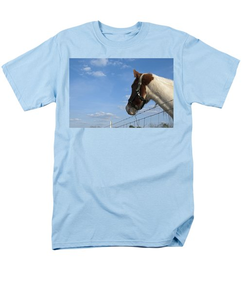 Men's T-Shirt  (Regular Fit) featuring the photograph Profile Of A Horse by Charles Beeler
