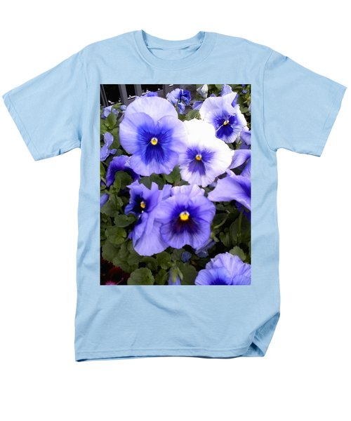 Men's T-Shirt  (Regular Fit) featuring the photograph Purple Morning Glory by Fortunate Findings Shirley Dickerson