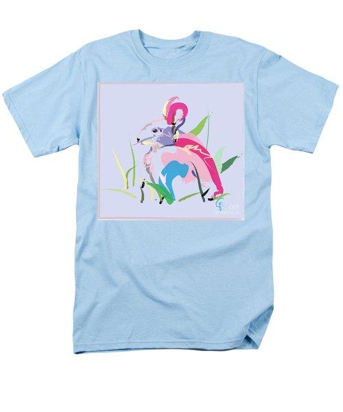 Rabbit - Bunny In Color Men's T-Shirt  (Regular Fit) by Go Van Kampen