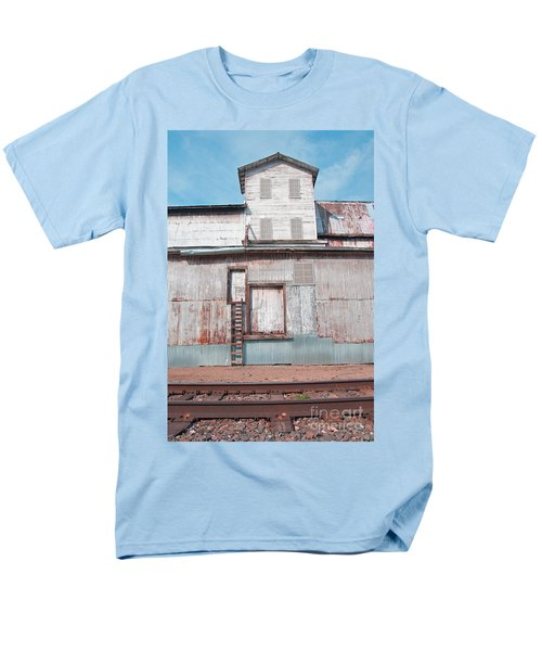 Railroad To The Past Men's T-Shirt  (Regular Fit) by Minnie Lippiatt