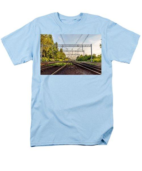 Railway To Nowhere Men's T-Shirt  (Regular Fit) by Tgchan
