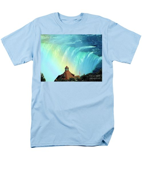 Men's T-Shirt  (Regular Fit) featuring the photograph Rainbow Over Horseshoe Falls by Janette Boyd