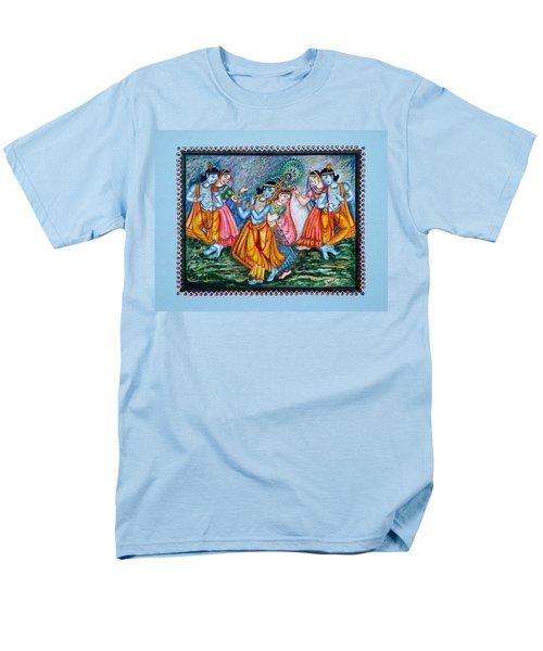 Men's T-Shirt  (Regular Fit) featuring the painting Ras Leela by Harsh Malik
