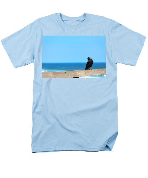 Men's T-Shirt  (Regular Fit) featuring the photograph Raven Watching by Peta Thames