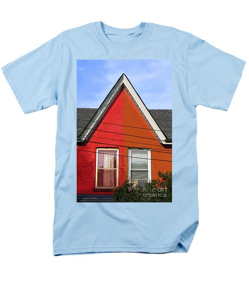 Men's T-Shirt  (Regular Fit) featuring the photograph Red-orange House by Nina Silver