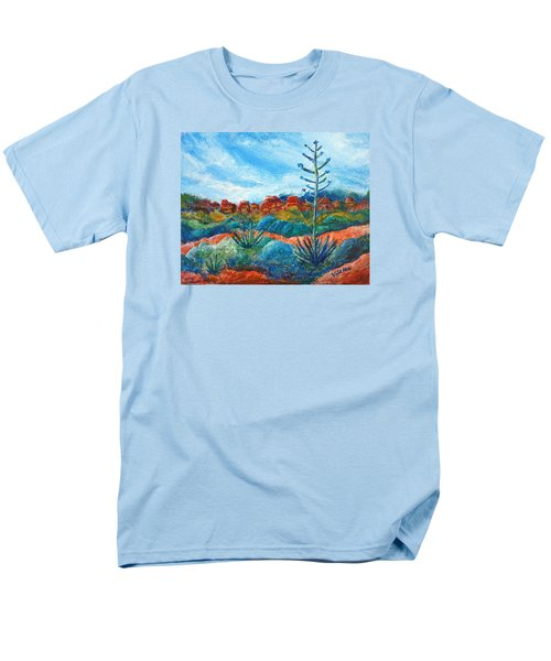 Men's T-Shirt  (Regular Fit) featuring the painting Red Rocks by Victoria Lakes
