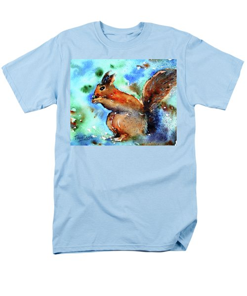 Men's T-Shirt  (Regular Fit) featuring the painting Red Squirrel  by Trudi Doyle