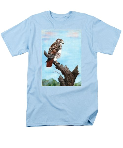 Red Tailed Hawk Men's T-Shirt  (Regular Fit) by VLee Watson