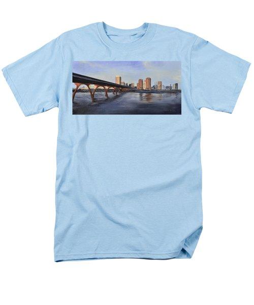 Men's T-Shirt  (Regular Fit) featuring the painting Richmond Virginia Skyline by Donna Tuten