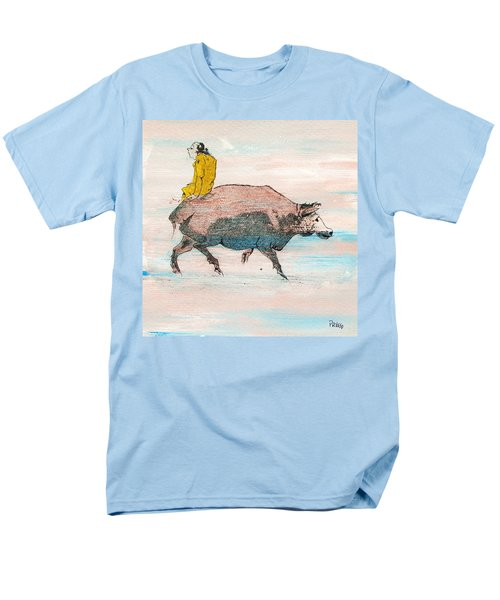 Riding A Blind Ox In Search Of The Tiger Men's T-Shirt  (Regular Fit) by Roberto Prusso