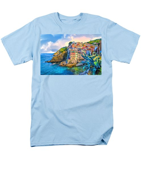 Riomaggiore Morning - Cinque Terre Men's T-Shirt  (Regular Fit) by Dominic Piperata