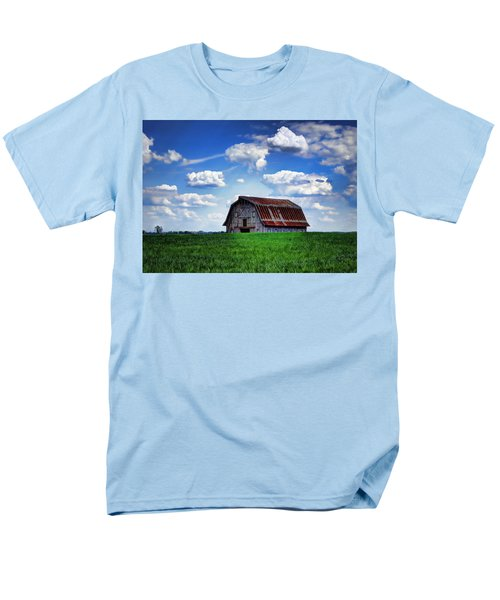 Riverbottom Barn Against The Sky Men's T-Shirt  (Regular Fit) by Cricket Hackmann