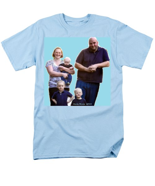 Men's T-Shirt  (Regular Fit) featuring the painting Robert Nutting Family by Bruce Nutting